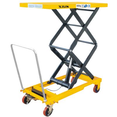 手动液压平台车SPF680|超市专用-东营千骏机械设备有限公司